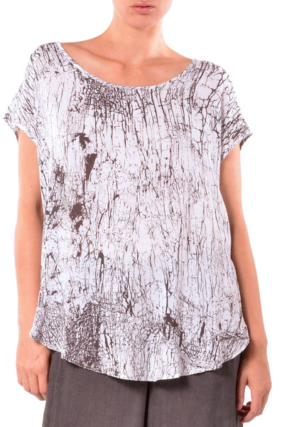 Side Slit Rayon Print Tunic