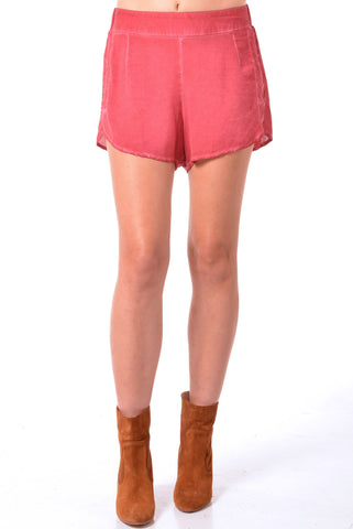 High Waist Side Slit Short