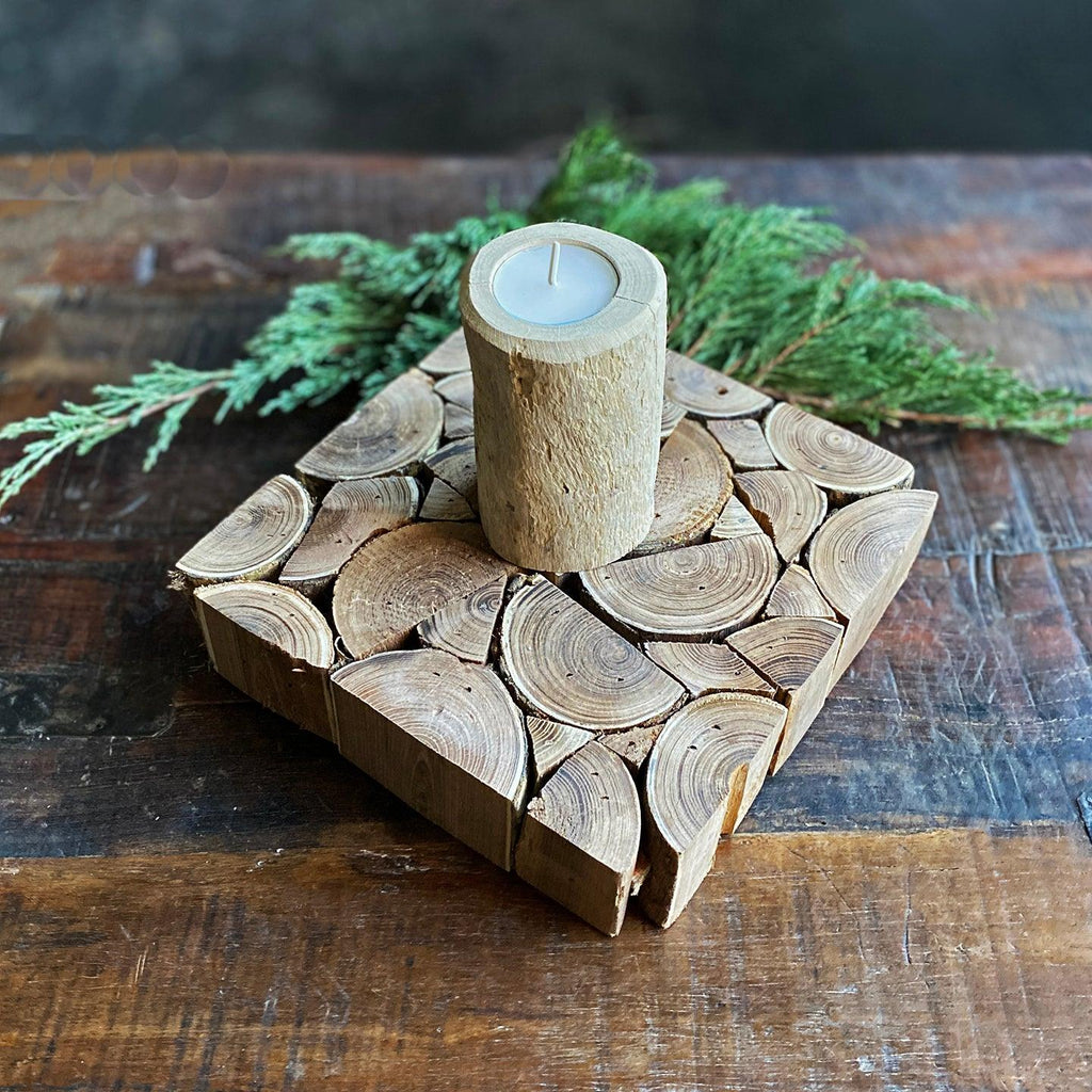 Wooden Candle Gift Set