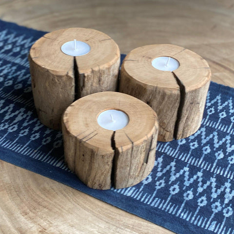 Driftwood Candle Holder Set A