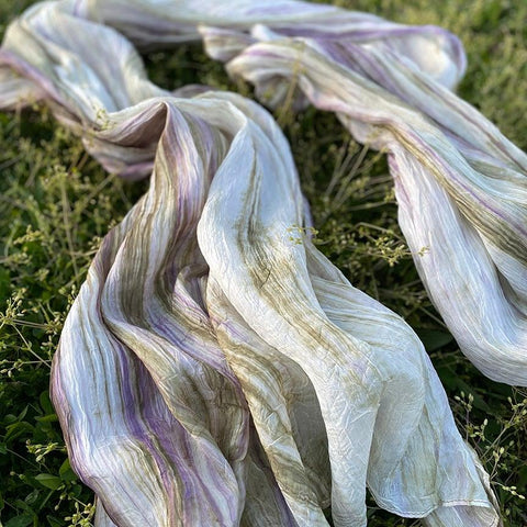 Watercolor Scarf - Olive Lavender