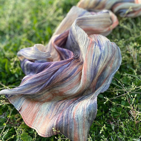 Watercolor Scarf - Wheat Blend