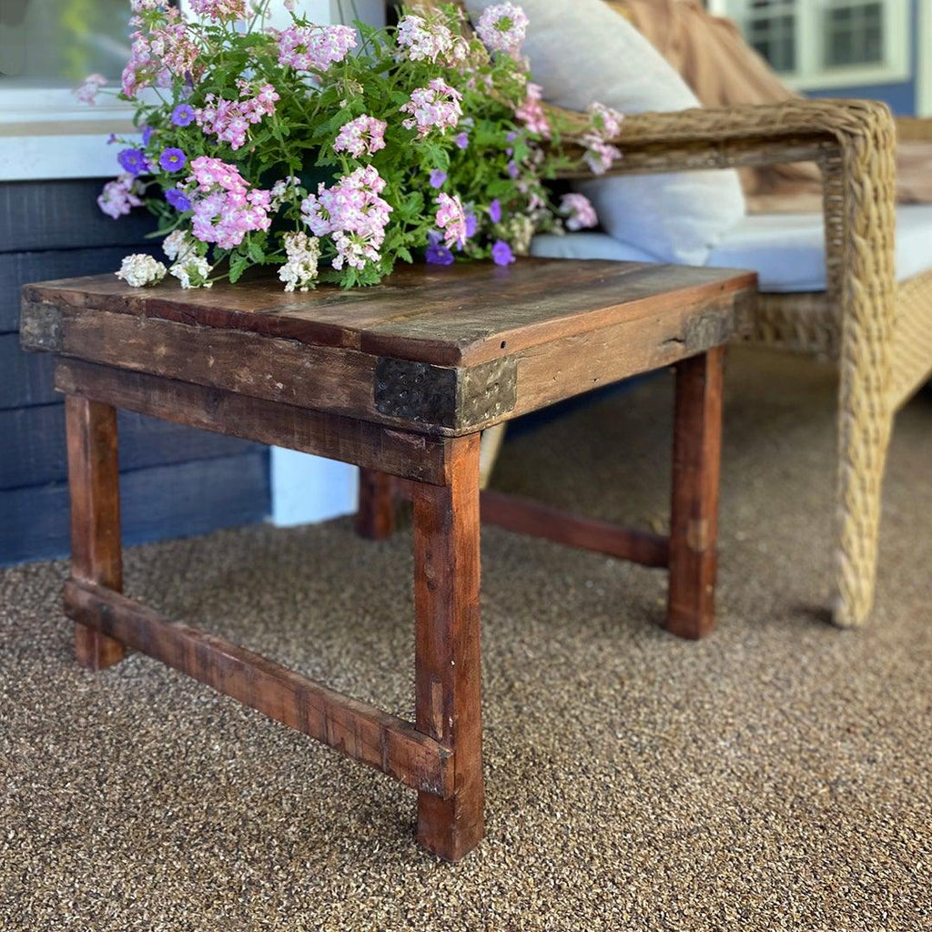 Rustic Wood Porch Table