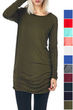 Side Ruched Tunic (Multiple Color Options)