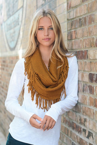 Infinity Fringe Scarf (Several Colors)