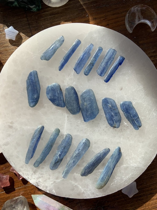 Polished Blue Kyanite Sticks ~ Crystal Grid Sets of 6