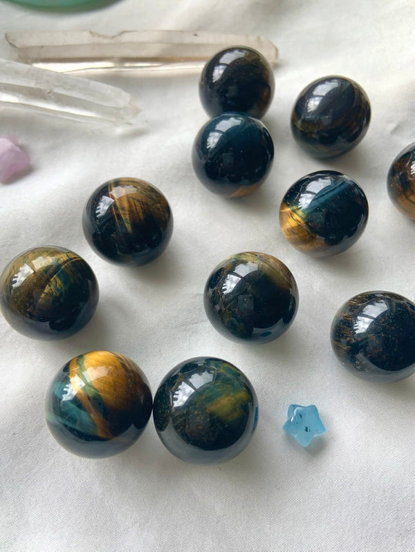 BLUE TIGER'S EYE Mini Spheres