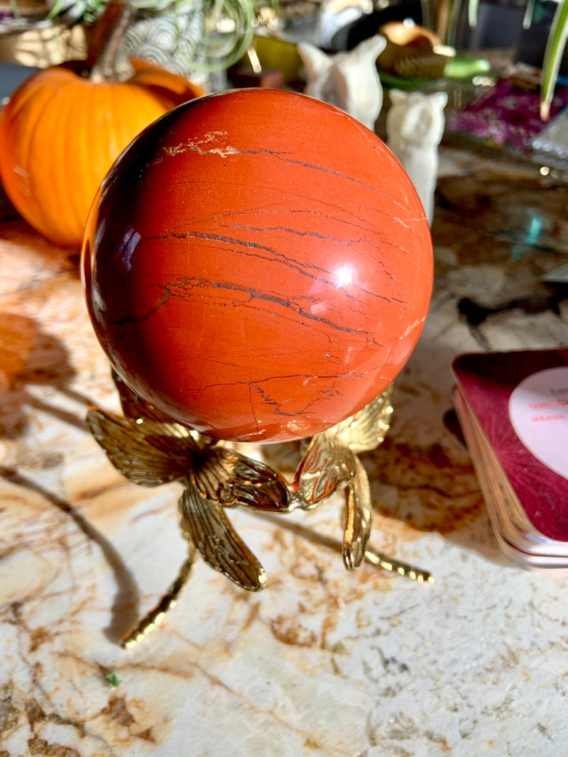 Large Red Jasper Sphere