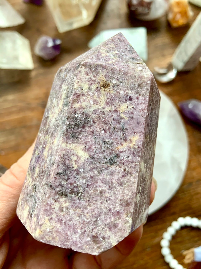 Sparkly Deep Purple LEPIDOLITE TOWERS 7