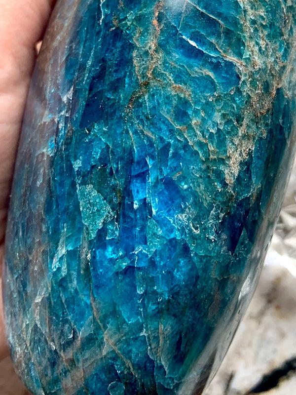 XL BLUE APATITE FREEFORM Display Piece, over 4 lbs