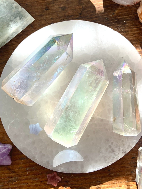 Angel Aura QUARTZ CRYSTAL Points
