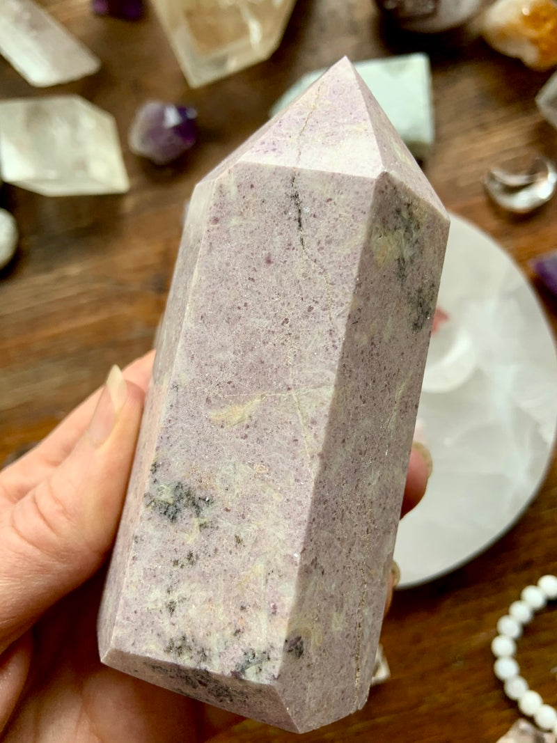Sparkly Lilac LEPIDOLITE TOWERS 5