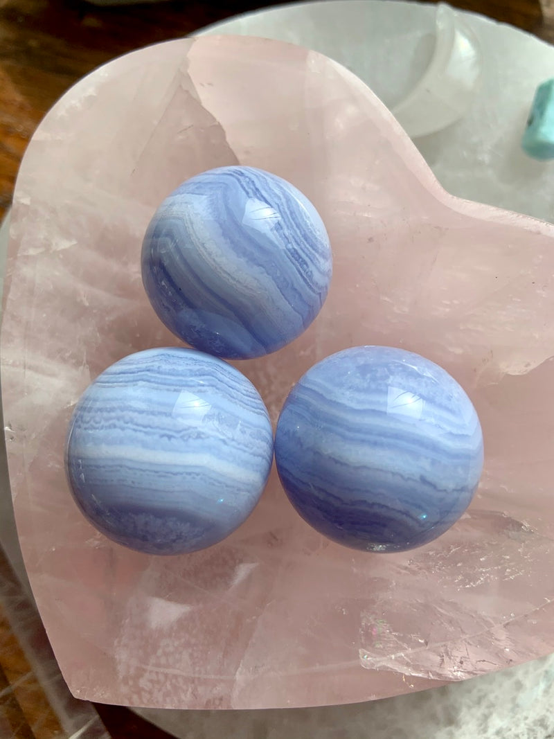 BLUE LACE AGATE Spheres 31mm