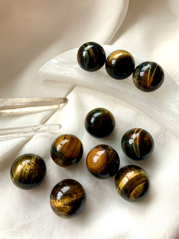 GOLDEN TIGER'S EYE Mini Spheres
