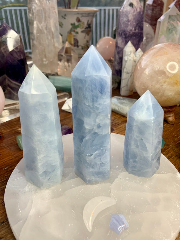 Soothing BLUE CALCITE TOWERS, B