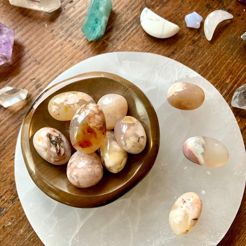 Bloom into your full potential with our FLOWER AGATE TUMBLES