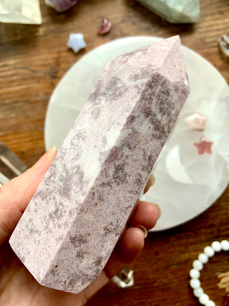Sparkly Lilac LEPIDOLITE TOWERS 6