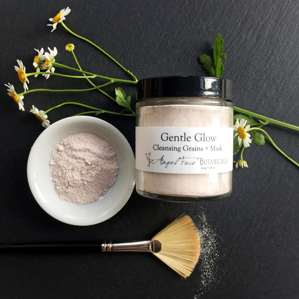Gentle Glow Cleansing Grains + Mask, Clay Mask, Herbal Mask, Face Wash
