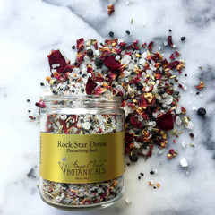Angel Face Botanicals Rock Star Detox Detoxifying Bath Salts with organic herbs & mineral sea salts