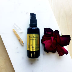 Rose Petals Organic Décolleté Oil by Angel Face Botanicals, organic body oil, organic massage oil
