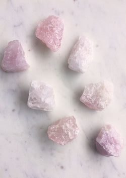 Raw Rose Quartz Crystal Chunks