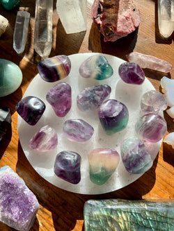 RAINBOW FLUORITE: Peace, Bliss, Calm, Positive Vibes⁠.