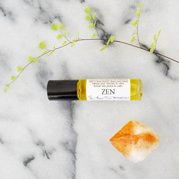 Zen Gemstone Aromatherapy for Relaxation - Angel Face Botanicals