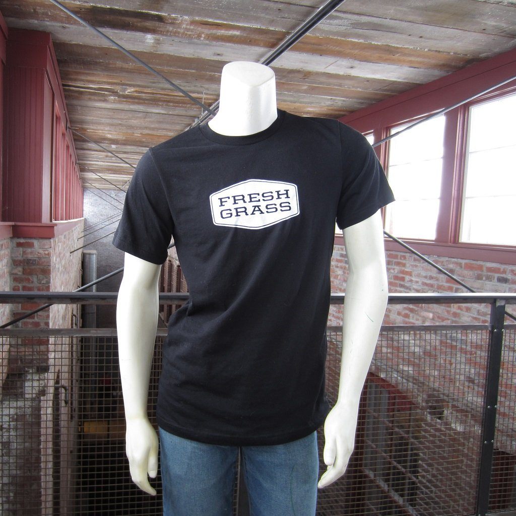 FreshGrass T-Shirt: Black with White Logo
