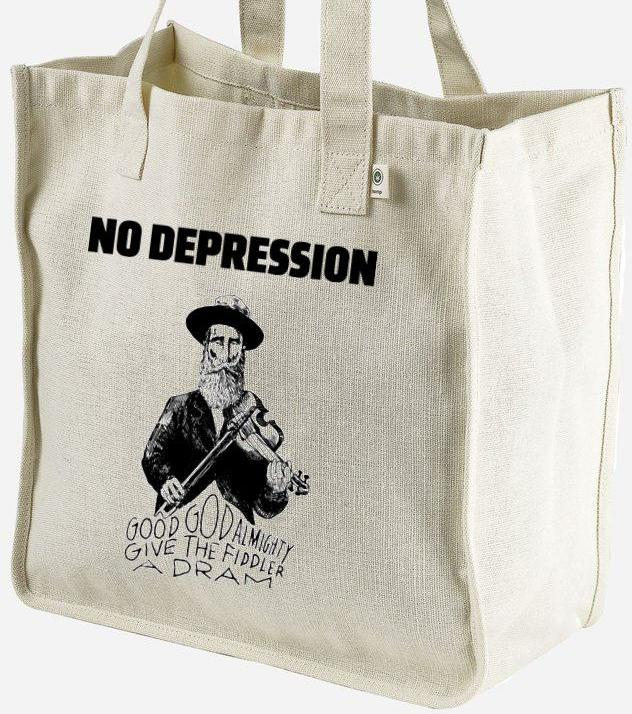 No Depression Fiddler Tote Bags - FreshGrass 2018 Featured Product