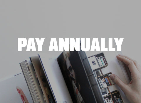 Annual Subscription - Pay Annually
