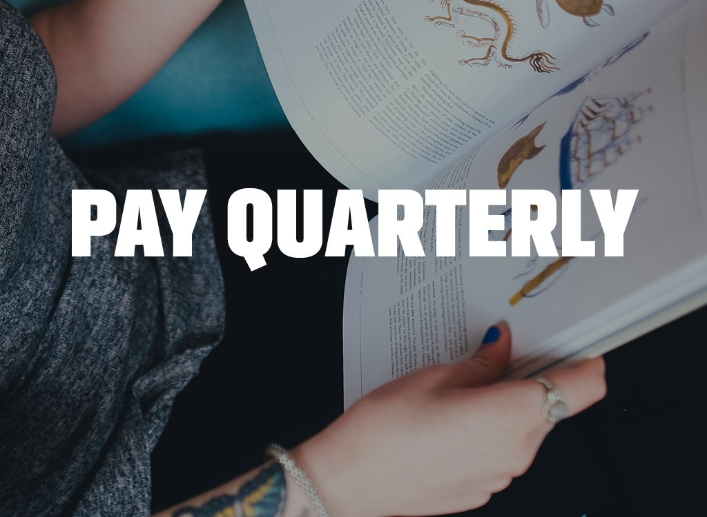 Annual Subscription + Free Gift - Pay Quarterly