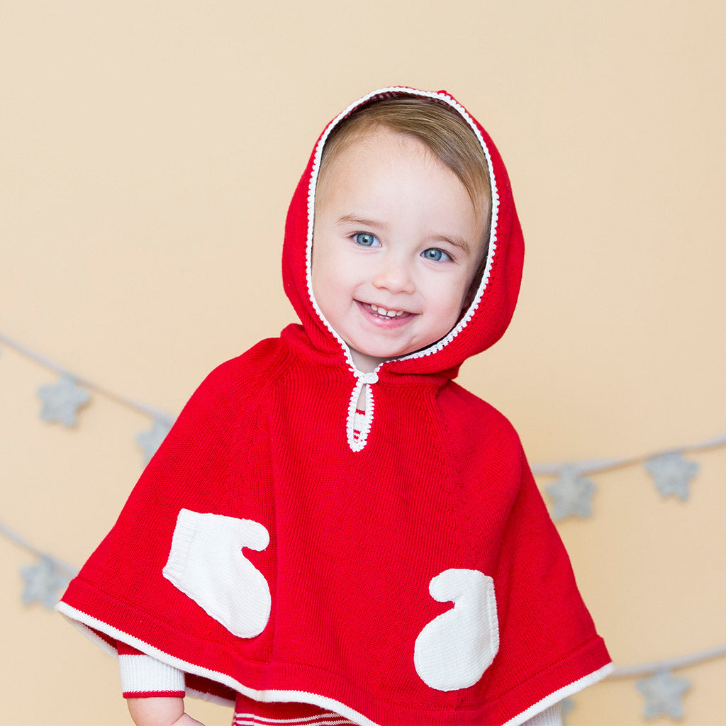Angel Dear baby Holiday Hoodie Poncho-Ever Simplicity