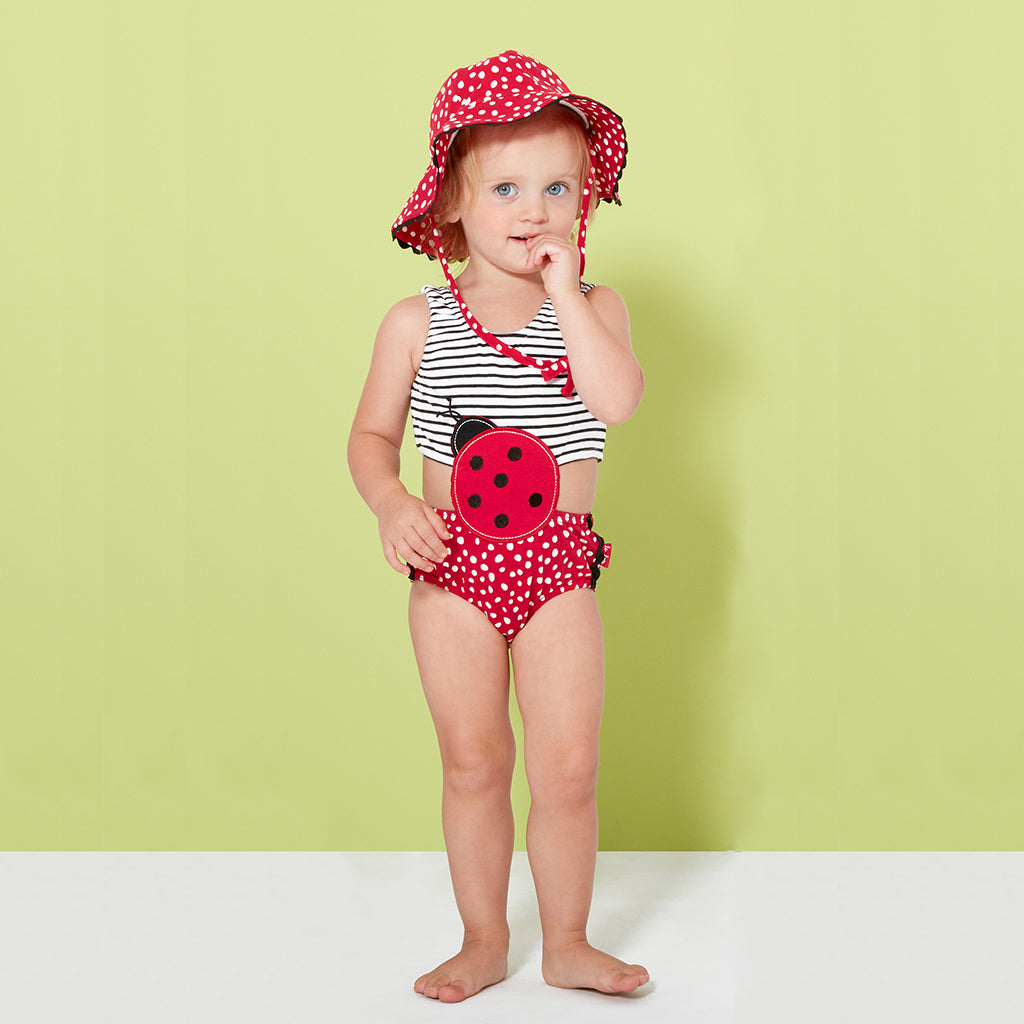 Baby Girl Swimsuit and Sunhat-EVer Simplicity