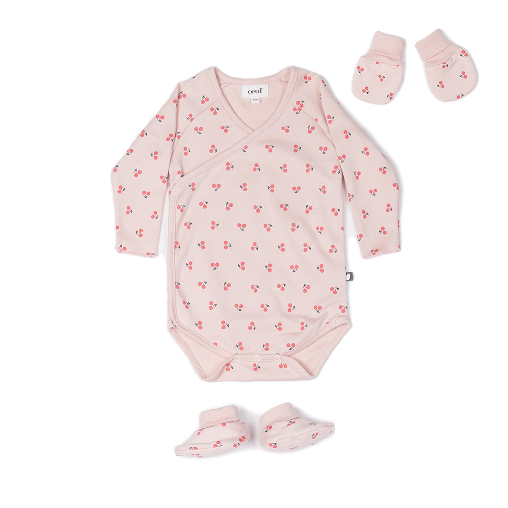 Oeuf baby cherry onesie set -Ever Simplicity
