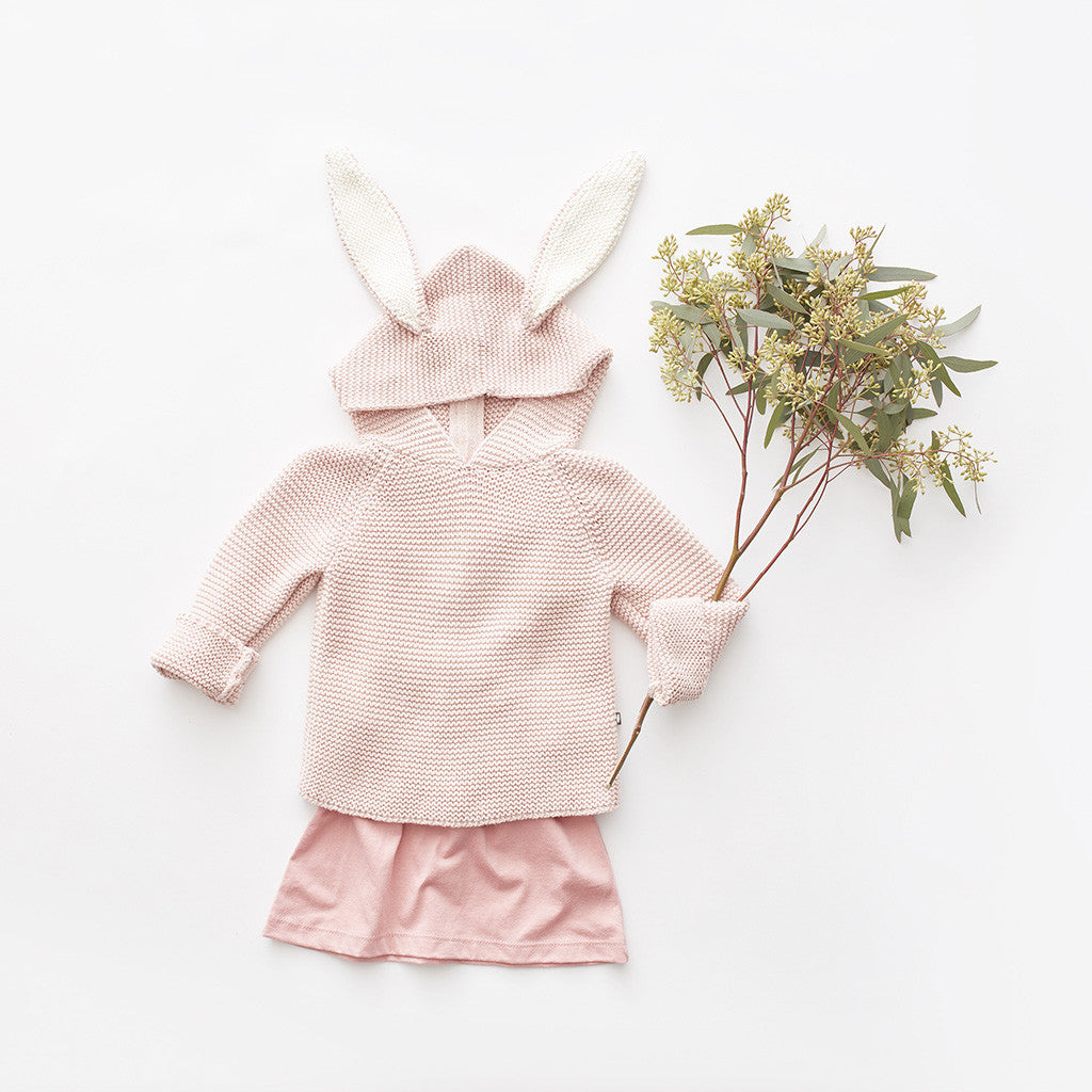 Oeuf baby pink rabbit hoodie