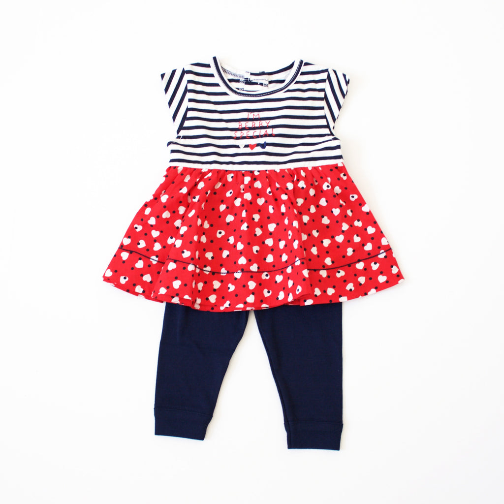 Baby Girl Heart Outfit-Ever Simplicity