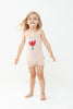 Oeuf Kids one-pieces Suspender Romper-Light Pink/Tulip - Ever Simplicity