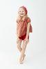 Oeuf Kids tops SS Blouse-Rust/Tulips - Ever Simplicity