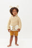 Oeuf Kids cardigans KOALA HOODIE-OCHRE/WHITE - Ever Simplicity