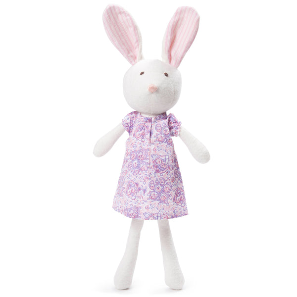 Emma Rabbit in Lilac Paisley Dress