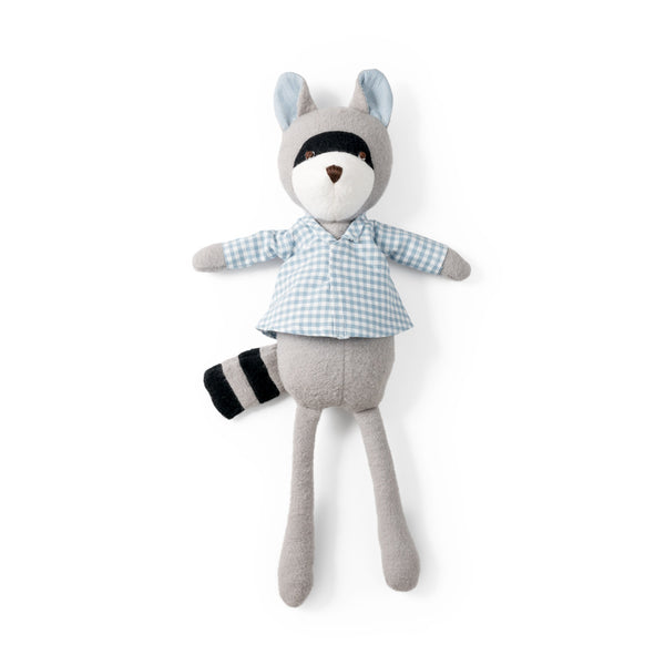Hazel Village Kids toy Max Raccoon in Gingham Shirt - Ever Simplicity