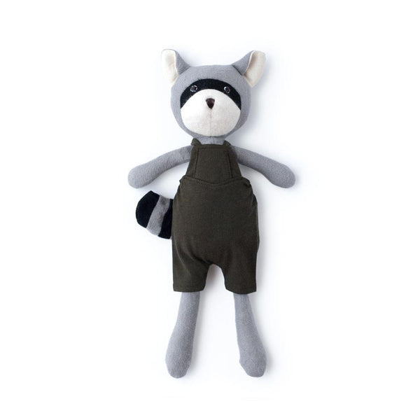 Hazel Village Kids toy Max Raccoon in Picnic Overalls - Ever Simplicity