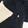 Oeuf Kids tops Monster Sweater-Indigo/White - Ever Simplicity