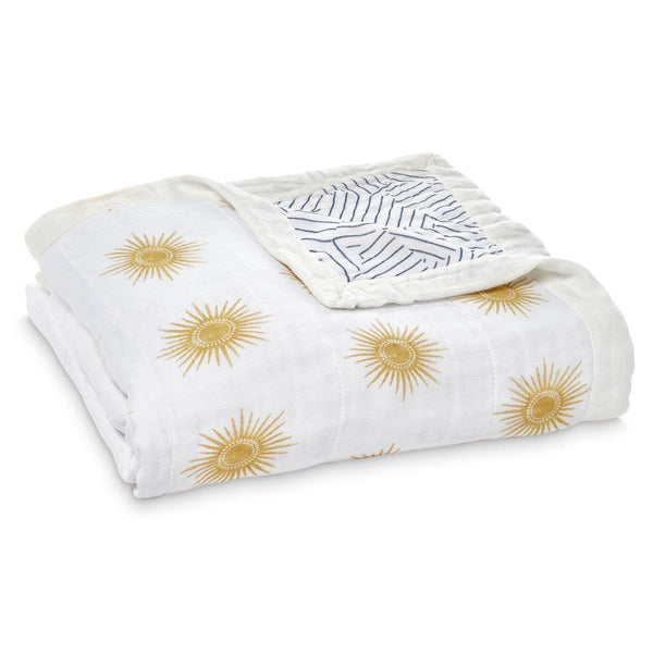 aden + anais Kids accessories Golden Sun Silky Soft Dream Blanket - Ever Simplicity