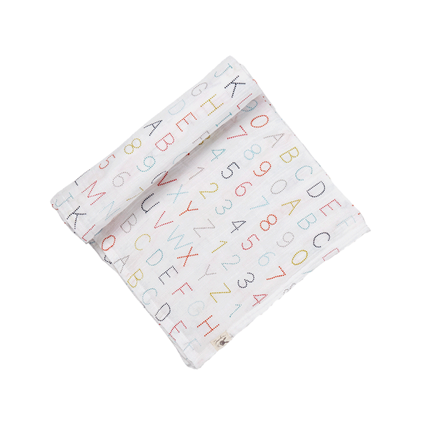 Petit Pehr Kids accessories Alphabet Swaddle - Ever Simplicity