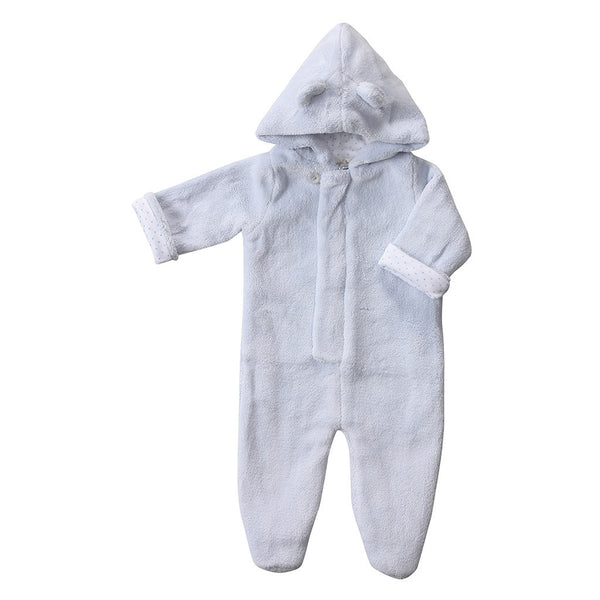 Angel Dear Kids one-pieces Fuzzy Footie-Blue - Ever Simplicity
