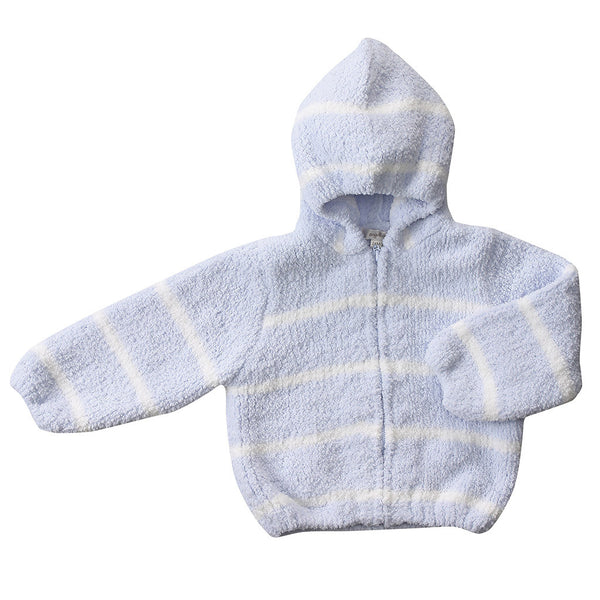 Angel Dear Kids cardigan Chenille Hoodie-Blue/Ivory - Ever Simplicity