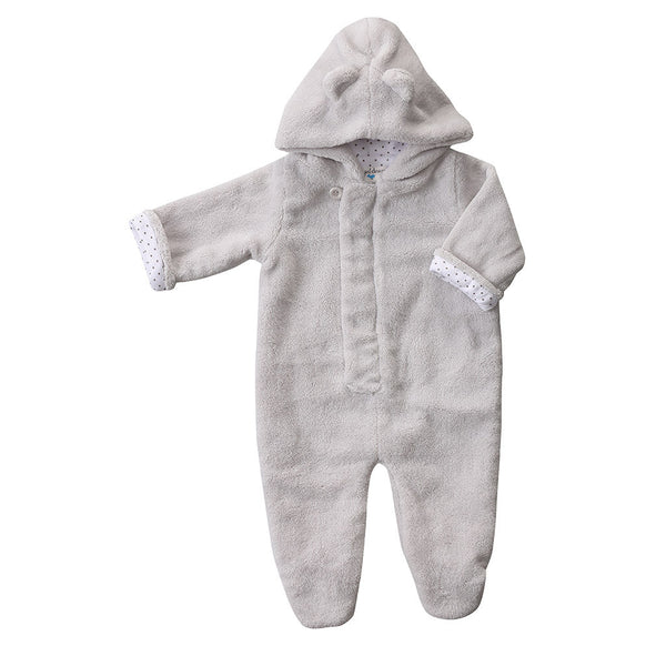 Angel Dear Kids one-pieces Fuzzy Footie-Grey - Ever Simplicity