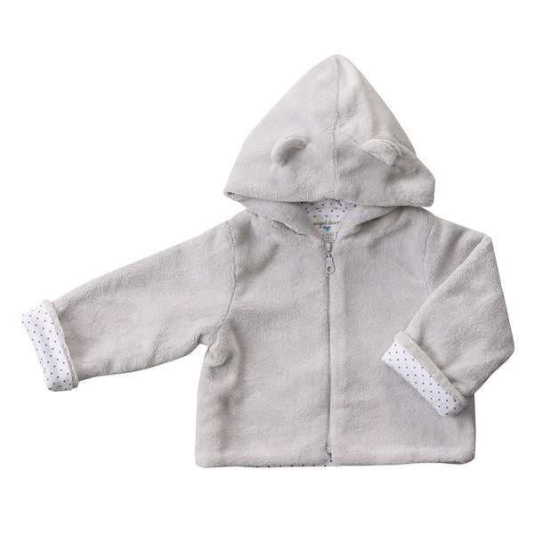 Angel Dear Kids cardigans Fuzzy Jacket-Grey - Ever Simplicity