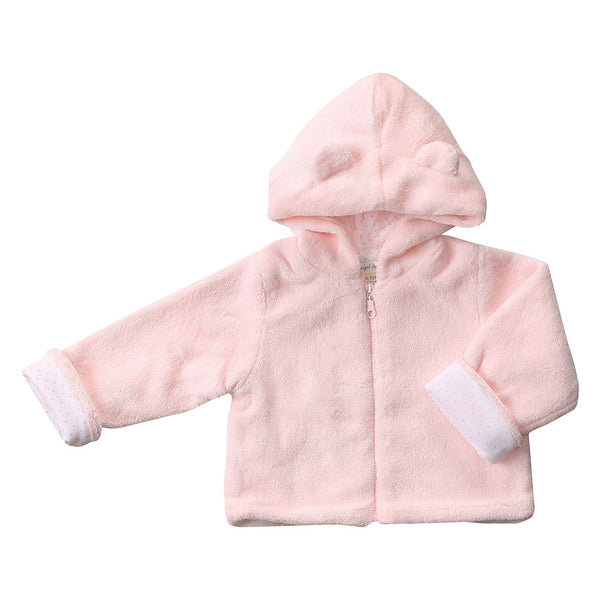Angel Dear Kids cardigans Fuzzy Jacket-Pink - Ever Simplicity